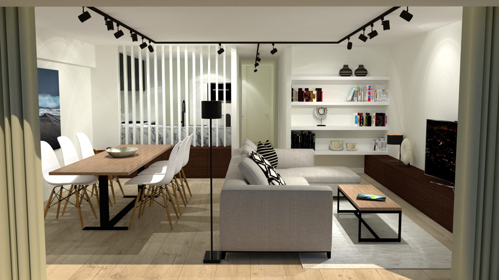 dm interieur appartement knokke. Black Bedroom Furniture Sets. Home Design Ideas